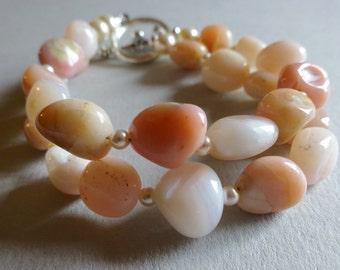Pretty in Pink- Opal Double Strand Bracelet