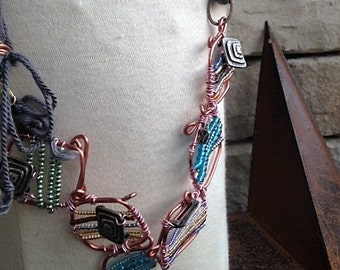 Created Copper Beads with Vintage Accents