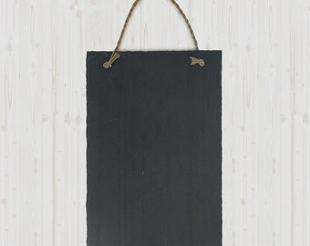 Frameless Rustic Slate Chalkboard with Twine