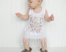 First birthday outfit girl, birthday dress, wild and one, glitter birthday shirt, girl birthday shirt,one, 1st birthday girl