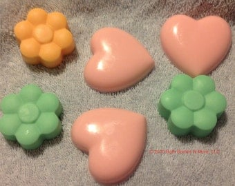 Hearts and Flowers shaped soaps