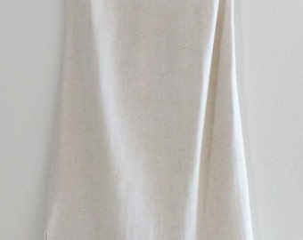 Vintage 60s JEBBI of CALIFORNIA Cotton Linen Bohemian Summer Long Maxi Boho Dress, XS-S
