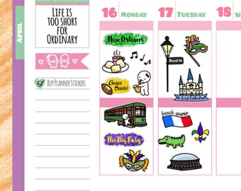 Munchkins - New Orleans Travel the World Planner Stickers (M97)