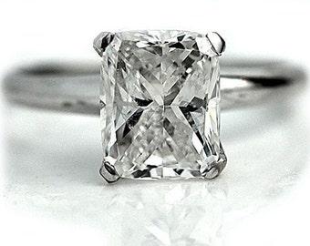 Cushion Diamond Engagement Ring 3.01 Carats