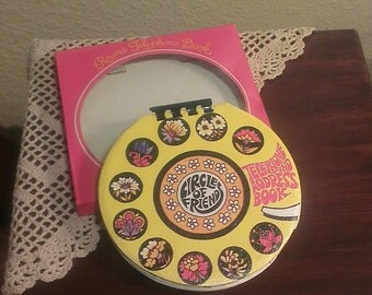 Vintage Circle of Friends 'Flower Power' Telephone and Address Book - New In Box (1971)
