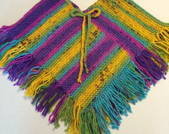 Girl's Knitted Poncho