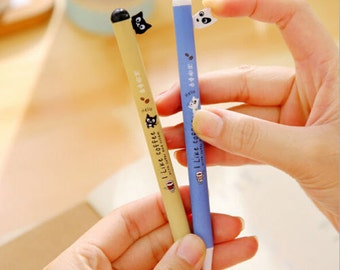Cute Dog & Cat Pens / Cute Pens / Kawaii Pens / Cute Gel Pens / Cute Gel Ink Pens / Kawaii Gel Pens / Cute Dog Pen / Cute Cat Pen