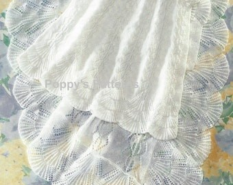 Babies Heirloom Christening Robe and Shawl with Shell edges 3ply PDF