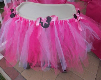 Pink Minnie Mouse Highchair Tutu only