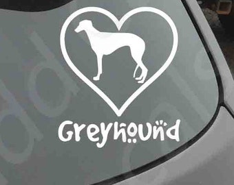 Love Your Greyhound Decal Car Window Dog Breed Puppy