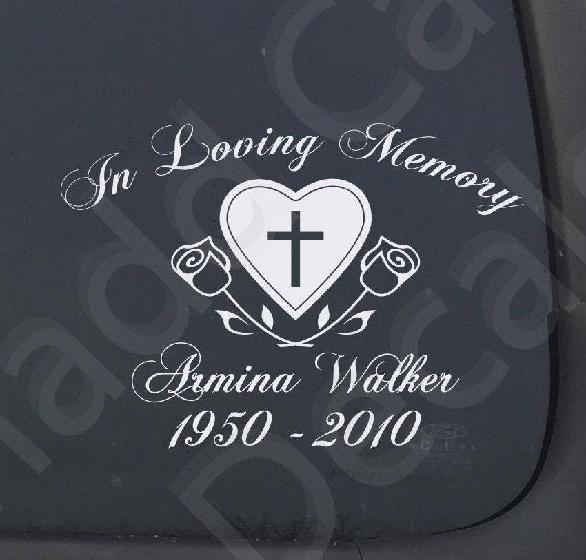 In Loving Memory Of Memorial Vinyl Decal Car Window Laptop