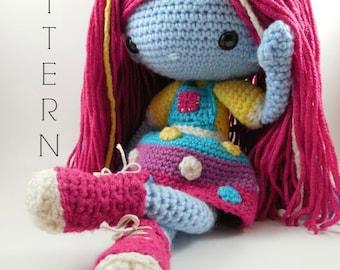 Luna Mae -  Amigurumi Doll Crochet Pattern PDF