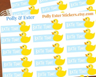 Planner Stickers, Bath Time Stickers, Yellow Duck Stickers, Baby Planners, Planner Accessories, Baby Shower, Baby Boy, Baby Sitter Notes