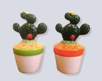 Cactus figurines, wild western, ceramics