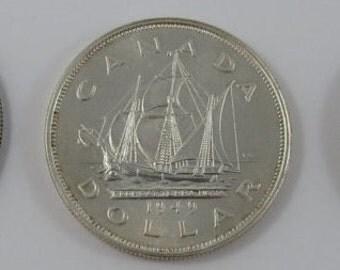 Canada Silver Dollar 1949 Birth Year Gift