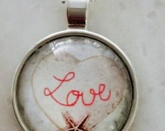 Glass pendent Delicate Love