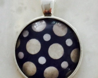 Glass pendent Dots/navy/off white/ beige