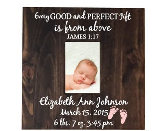 Personalized Baby Picture Frame - New Baby Gift - Announcement Baby Picture Frame - Nursery Picture Frame - Baby Shower Gift - Baby Frame