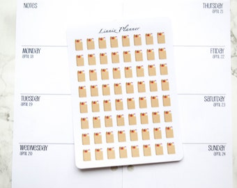 Mini Brown Grocery Bag (matte planner stickers, perfect for planners)