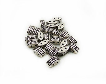 Spacer Beads, Metal Spacer Beads, Spacer Beads, Silver Tone Spacer Beads, 10 pcs Spacer Beads, Jewelry Making,