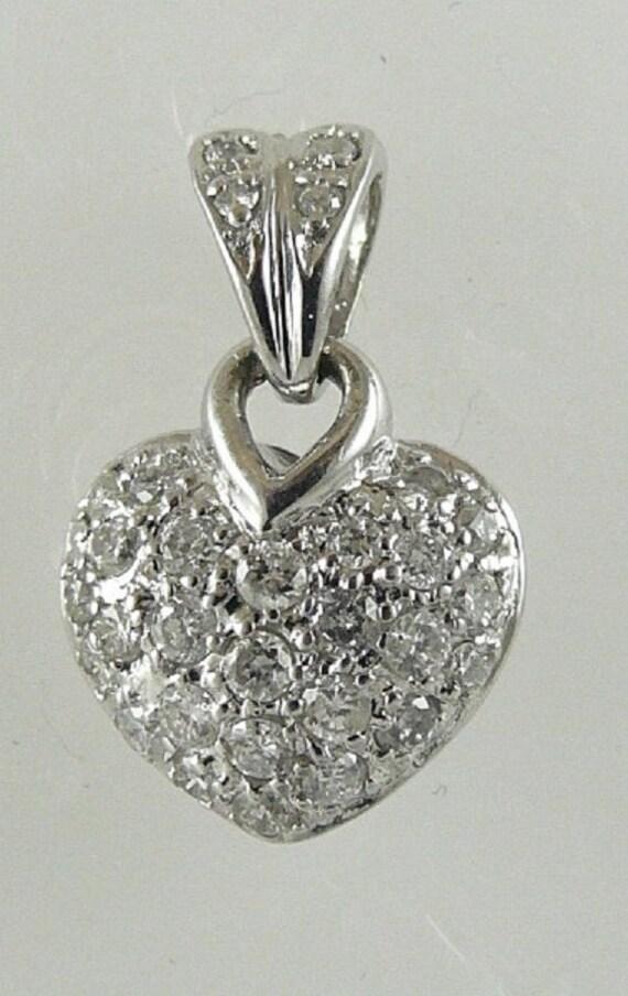 Diamond Heart 0.25ct Pendant 14k White Gold