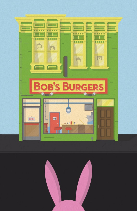 Bob 39 s burger building by hermitstudios on etsy for Questions to ask a builder when buying a new home