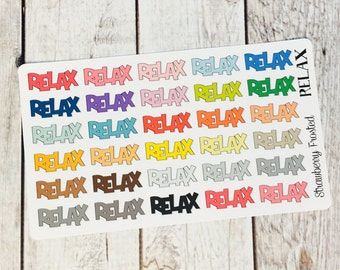 RELAX Planner Stickers - Made to fit Vertical or Horizontal Layout
