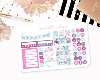 Fairytale Princess - Storybook Themed Planner Stickers // Icons, Banners + Flags // Perfect for Erin Condren Vertical Life Planner