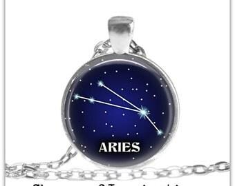 Aries Constellation Necklace Aries Zodiac jewelry Constellation jewelry Aries Zodiac Pendant Necklace Aries Astrology Birthday Gift idea