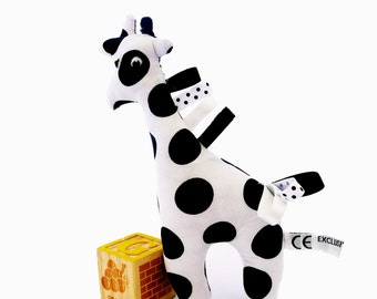 Giraffe cotton rattle