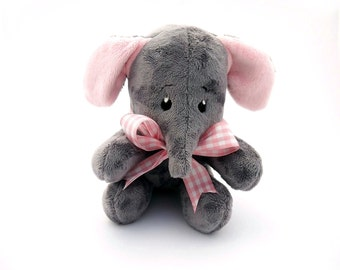 Elephant. Plush elephant toy. Handmade stuffed elephant. Cuddly elephant. Exclusively Handmade