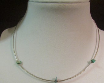 Vintage Southwestern Sterling Ladies/Childs Turquoise Fetish Necklace