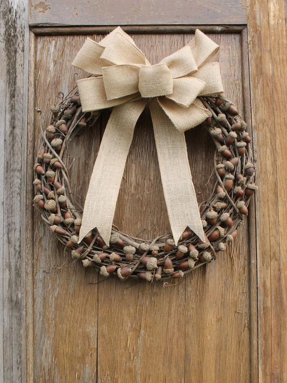 Acorn Wreath, Fall Wreath, Autumn Wreath, Rustic Wreath, Natural Wreath,  Front