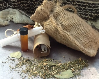 3 Day Flaming Sachet (for cleansing, uncrossing, curse breaking and protection)