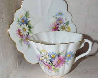 Crown Stamp Teacup & Saucer
