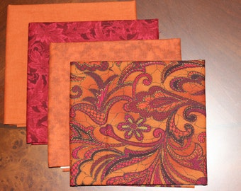 """RJR Fabrics with Jinny Beyer's """"Bedfordshire"""" and Hoffman fat quarter combination."""