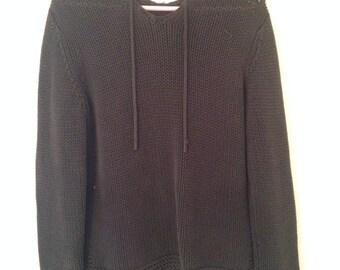 90s Knit Hooded Sweatshirt