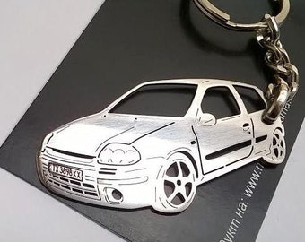 Renault Clio Personalized Key Chain, Renault Clio keychain, Renault Clio, Stainless Steel Keyring, personalised keyring, fathers day gift