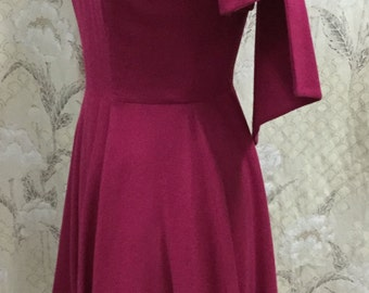 Beautiful 1950s Ruby Red Anne Fogarty Dress