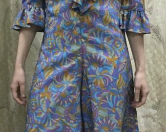 Vintage 1970s Boho Print Jumpsuit