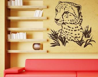 Wall Decal Cheetah Guepard Leopard Print Jaguar Panther Wild Cat African  Animals Safari Vinyl Sticker Home Part 57