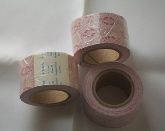 spools of pink ribbon
