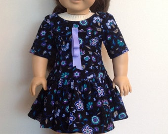 American Girl Doll Clothes 18 Inch Doll Clothes American Girl Clothes American Girl Doll Dress Flowered Corduroy School Dress