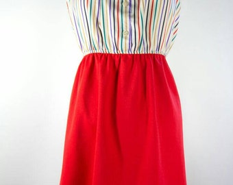 70's style tube top dress