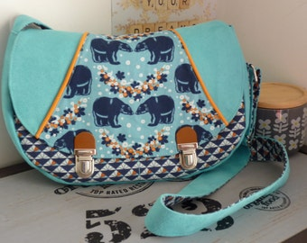 Blue bears Crossover Bag