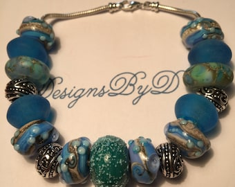 Mutil-Colored Blue European Style Bracelet