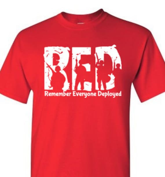 Support our troops wear red on friday shirt by mkbmplayground for Red support our troops shirts