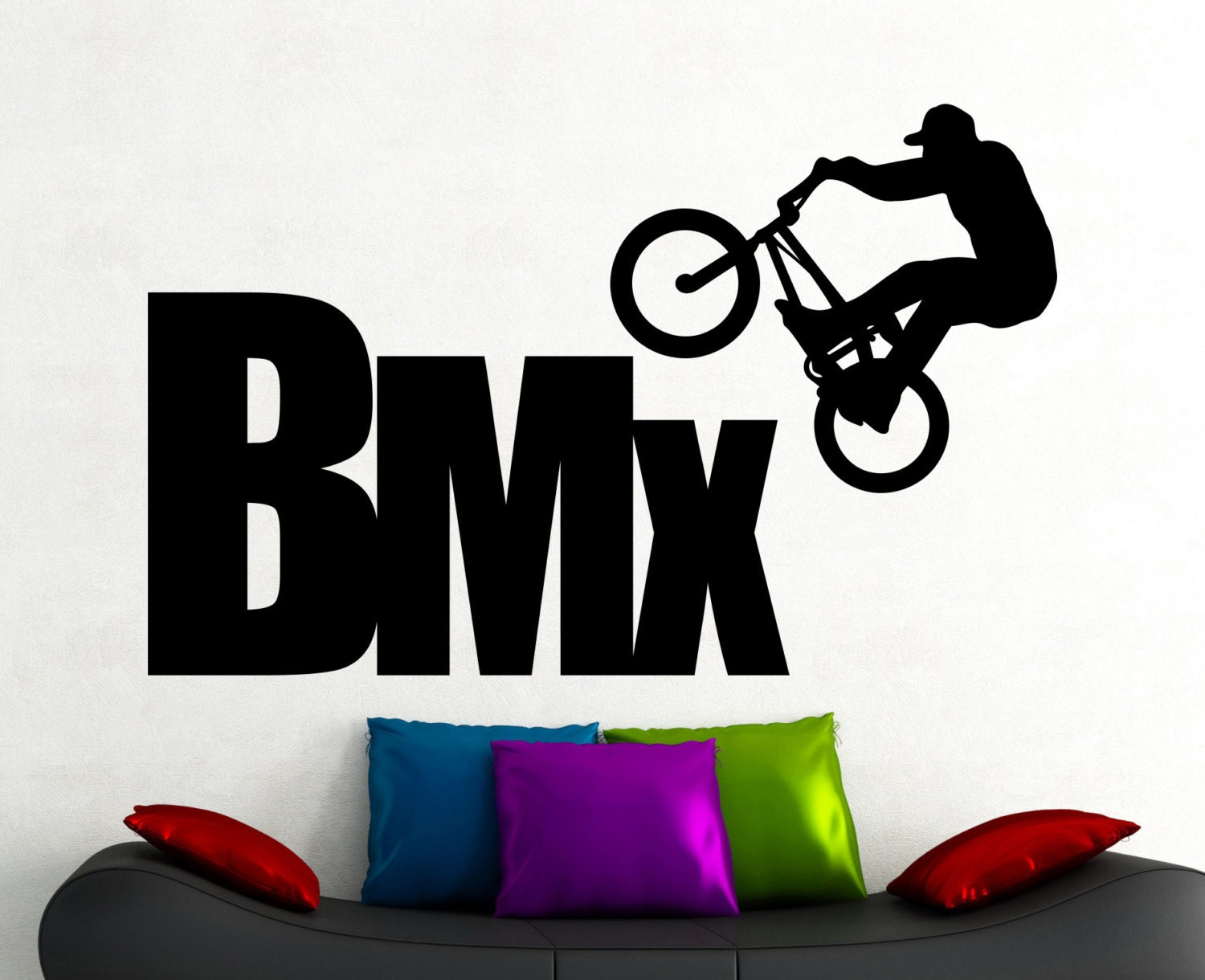 BMX Wall Sticker Extreme Sports Decals Freestyle Jumping