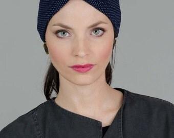 Blue Turban Headwrap, Blue Tichel, Blue Women Turban, Blue Headwrap, Fashion Turban, Blue Headcovering, Blue Turban Headband