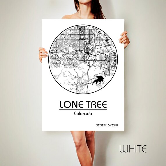 Lone Tree Colorado: LONE TREE Colorado Map Lone Tree Colorado Poster By ArchTravel